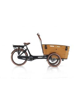 E-bike bakfiets Carry middenmotor zwart/bruin
