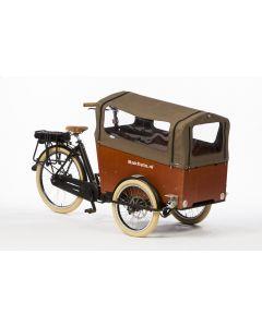 Tent voor Trike Wide met rits: tweed