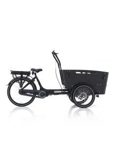 E-bike bakfiets Carry Middenmotor zwart