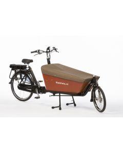 Dekzeil Cargobike long Tweed bruin