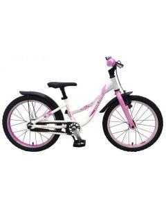 Parelmoer 18 inch meisjesfiets parelmoer roze