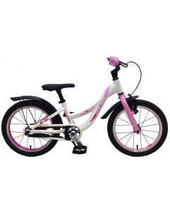 Parelmoer 16 inch meisjesfiets parelmoer roze