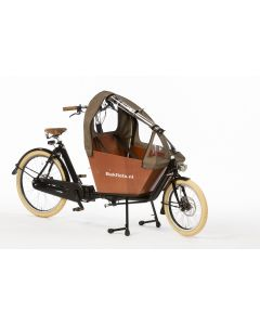 Tent Cargobike short all-open Tweed